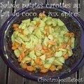 Salade patates carottes au lait de coco et aux épices