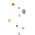 A collection of ten unmounted <b>fancy</b> coloured <b>diamonds</b>
