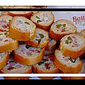 La baguette apéro au saumon ou jambon