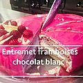 Bataille Food #67 Entremet framboises <b>chocolat</b> <b>blanc</b>