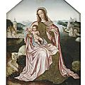 <b>Flemish</b> <b>School</b>, Late 16th Century, The Virgin and Child in front of an extensive river landscape