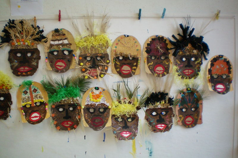 masque africain maternelle