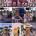 Bonhomnes en pot de fleurs.