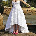 Robe de mariée en vue par issy! modèle burda 6777