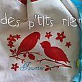 sac doudou oiseaux