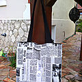 Tote bag journal