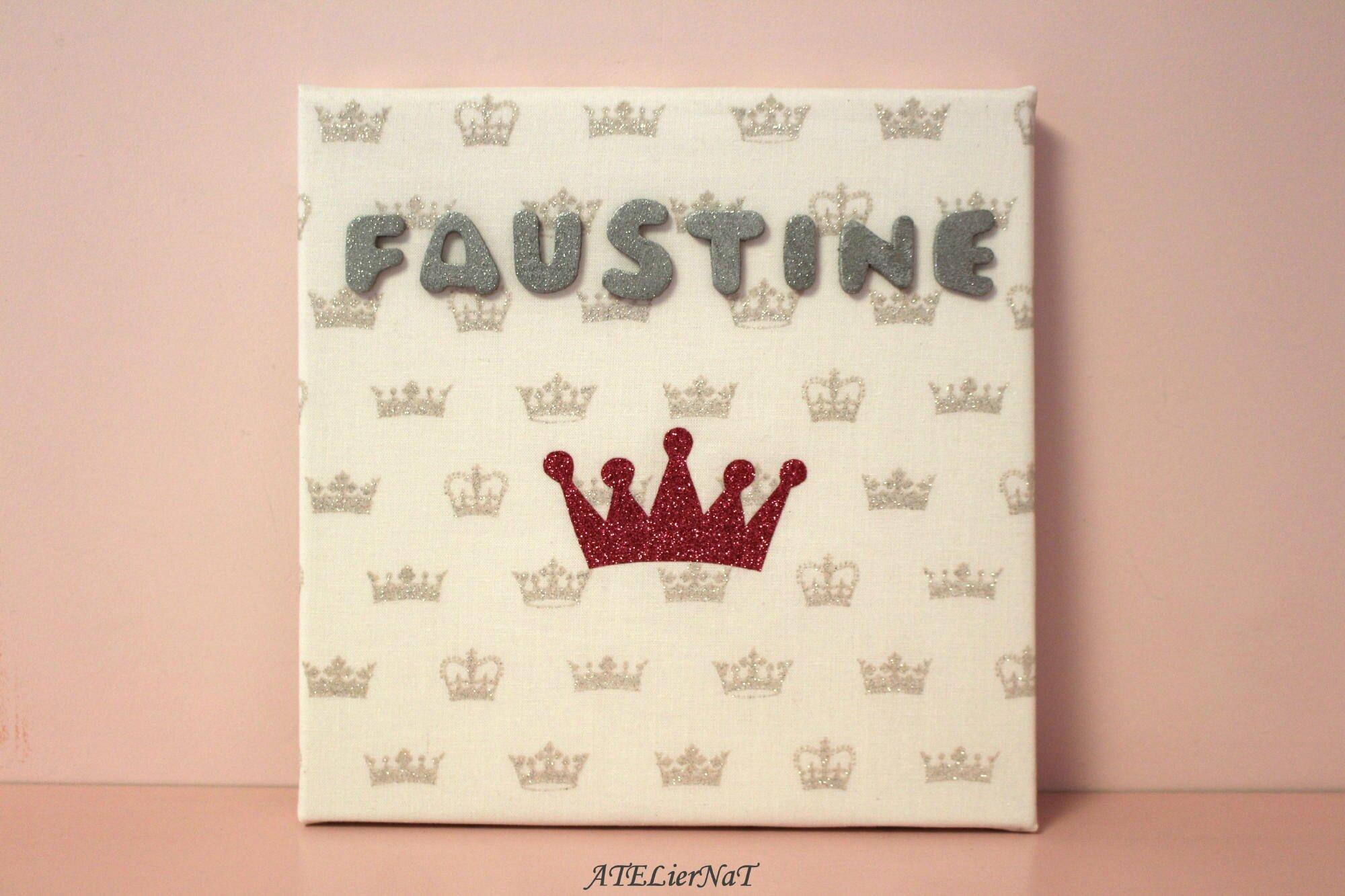 Toile déco personnalisée Faustine2