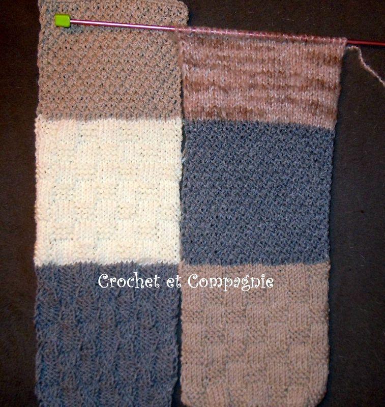 Frais Plaid tricoté - Crochet et Compagnie by Lucile SK12