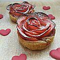 ...tartelettes romantiques aux pommes... (🏵🏵whaou🏵🏵)