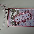 Carnet cadeau en rose rococo