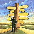 كاريكاتير حول تيه انسان عالم اليوم