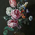 Jan van den Hecke The Elder (Kwaremont 1619/20 – 1684 Antwerp), <b>A</b> bouquet of <b>flowers</b> <b>in</b> <b>a</b> <b>glass</b> <b>vase</b>