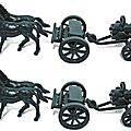 ATTELAGE CHEVAUX AVEC <b>MITRAILLEUSE</b> GATLING MARQUE ATLANTIC REF 1218 ECH 1/32 MADE IN ITALY