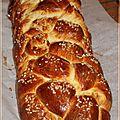 Brioche tressée à 6 branches façon pain challah