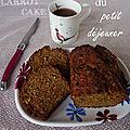Mon carrot-cake du petit déjeuner
