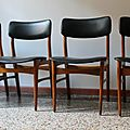 Chaises 60's style scandinave