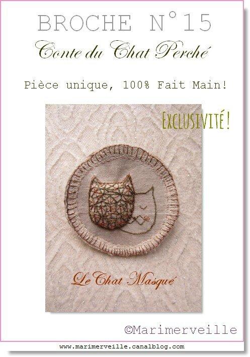 Broche textile N°15 Marimerveille
