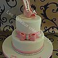 Gâteau rose très chic pour les 20 ans de melany