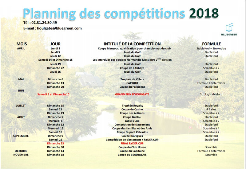 COMPETITIONS 2018