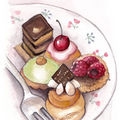 Les gourmandises | aquarelle