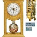 A Louis XVI ormolu month-going mean and solar time mantel regulator with remontoire