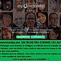 Blog my victories, un blog extraordinaire pour tous ceux qui sont malades, et aussi pour les biens portants.
