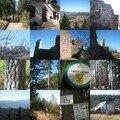 Trois épis, Ruines du chateau du petit Hohnach,vues sur Labaroche et le val d'Orbey
