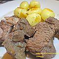 Afelia ( porc au vin rouge et aux graines de coriandre )