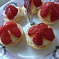 Minis-tartelettes aux fraises