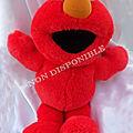 <b>Peluche</b> Parlante Rouge Vintage Sesame street Le Muppet show Elmo 1997 Tyco