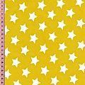 ENDUIT étoiles fond moutarde