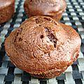 Muffins au chocolat et au beurre de cacahuètes