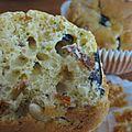 Muffins au boursin et tomates séchées