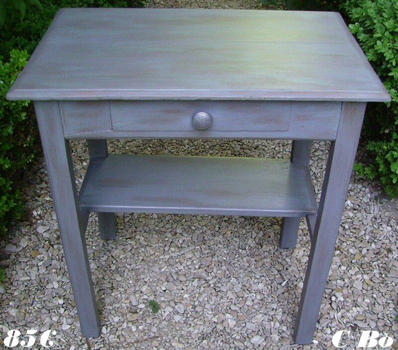table vert de gris face px