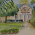 La gerbière, campbon, (loire-atlantique), aquarelle