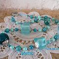 Collier turquoise, verre murano, résine et divers ( vendu )