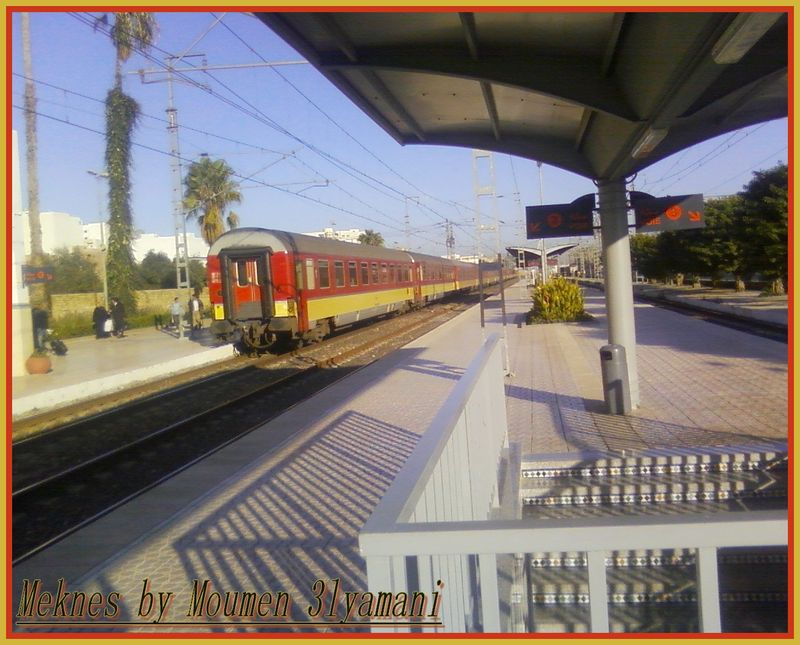 Train Quai Gare Meknes ville