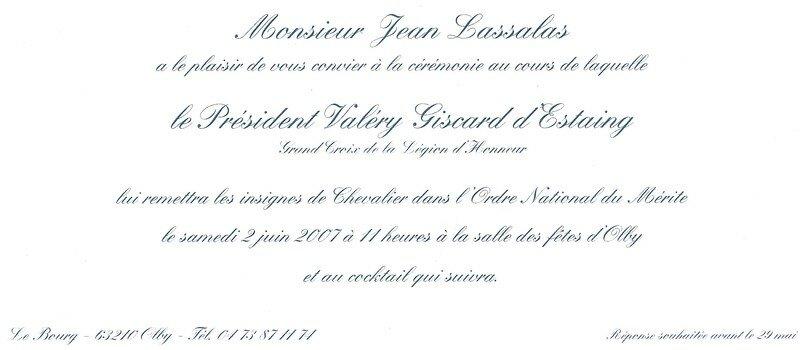 invitation remise de medaille