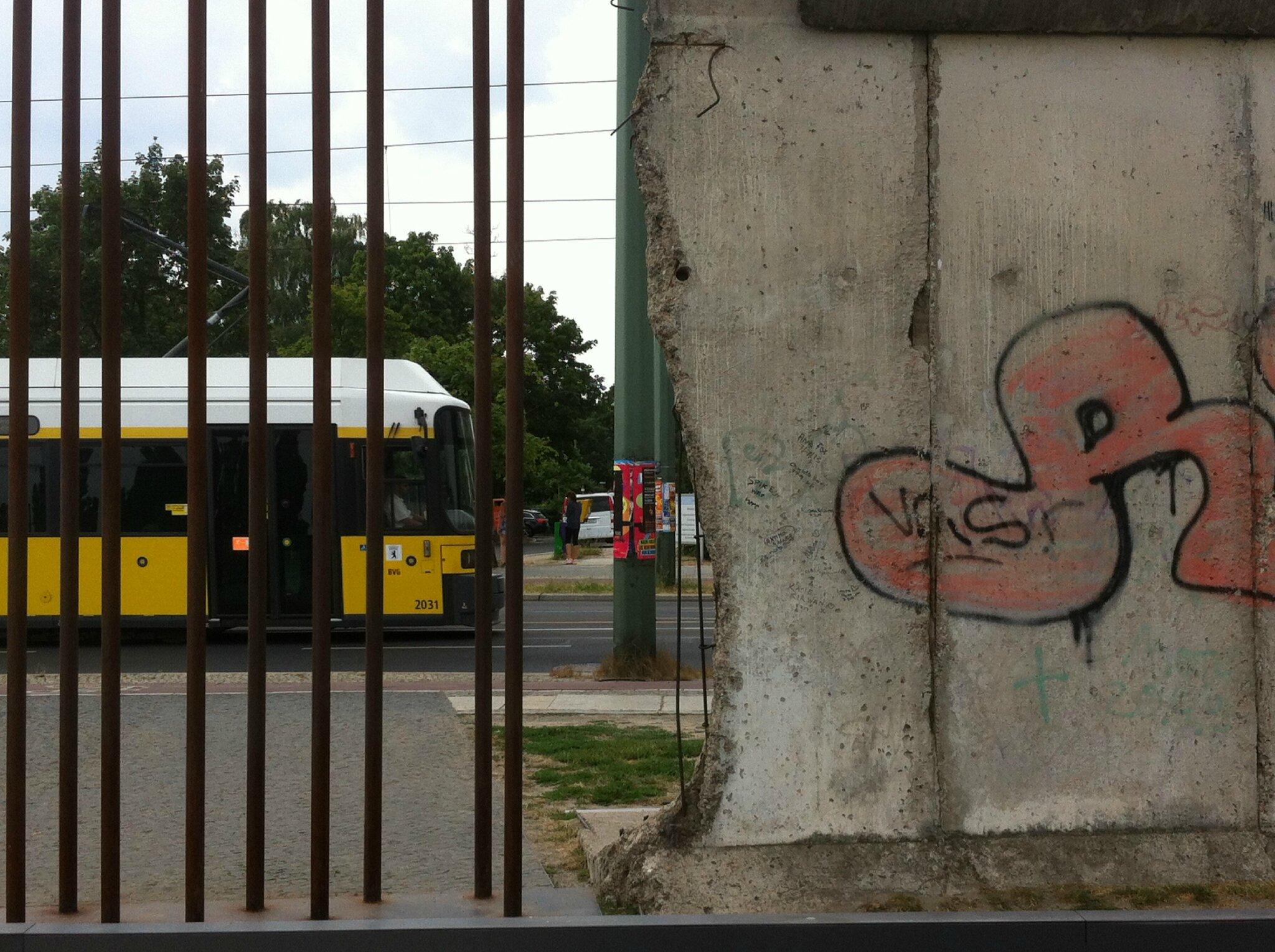 Berlin, mémorial du Mur, au bout du mur