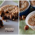 Un p'tit bonjour et des muffins aux noisettes et au chocolat, sans gluten