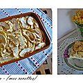 Flan campagnard aux pommes - flan a la campiña con manzanas