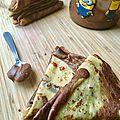Crêpes marbrées vanille chocolat