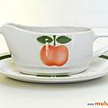 <b>Vaisselle</b> Vintage ... SAUCIERE avec RAVIER Pomme * Moulin des Loups