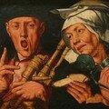 Le joueur de cornemuse et la femme joyeuse - Jan Sanders van Hemessen