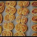 Palmiers jambon fromage