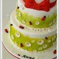 Gâteau baptême pour anna - nîmes