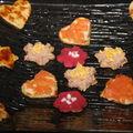 blinis salés thon saumon betterave