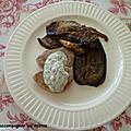 Filet <b>mignon</b> de porc au persil , aubergines