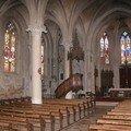 Intérieur église LAY ST CHRISTOPHE