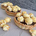 Tartelettes chocolat caramel popcorn
